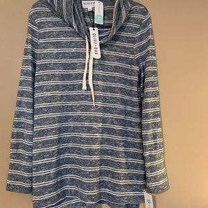 NWT Olive+Oak // striped cowl neck soft sweater